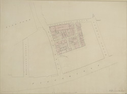 [Drawn Plan of the Property belonging to the Crown in Park Lane and Carrington Place]